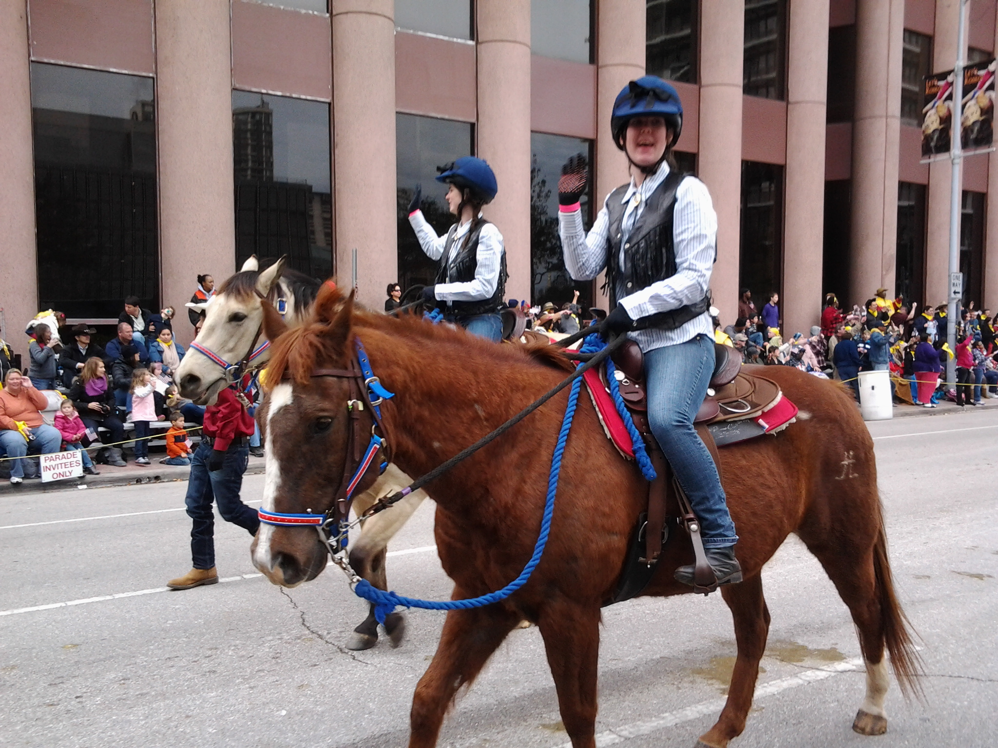 Girl Scouts of San Jacinto Council parade team members, 2013 Houston Rodeo.